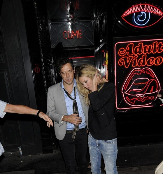 Kate Moss and Jamie Hince seen leaving La Bodega Negra mexican restaurant in SoHo - 25/05/12
