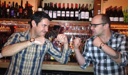 It's on! Spain vs France. Joán vs Olivier. Joios tasting playoff tomorrow at Amelie.