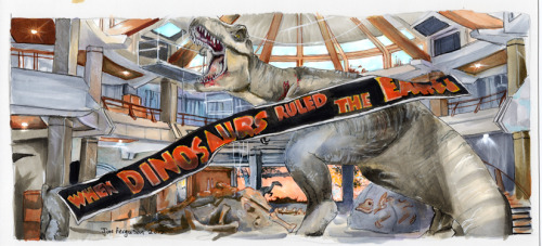 jimbeanus:  Jurassic Park - When Dinosaurs Ruled the Earth I don't get on tumblr much so if you want to follow my art like my facebook http://www.facebook.com/Jimbeanus