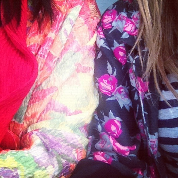 Nativela girl print bffs @millejos @mandymitz#humpday #prints #floral #stripes #summer #instagood  (Taken with Instagram at Toast Bakery & Café)
