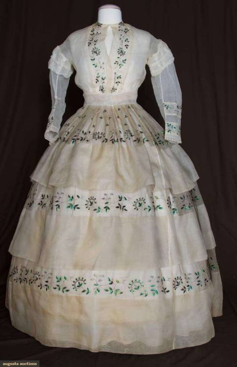 Dress 1860s Augusta Auctions