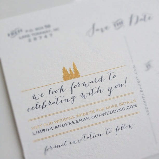 And the back… #savethedate #wedding (Taken with Instagram)