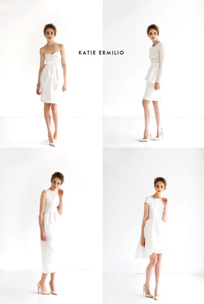 Katie Ermilio's modern wedding dresses Brittany, bklynbrideonline.com If you're a bride look­ing for a wed­ding dress with mod­ern twist, you've got a few options with Katie Ermilio's designs. As the grand­daugh­ter of Grace Kelly's per­son­al cloth­ier, she's got the DNA to back up these modern-day clas­sics. Check…