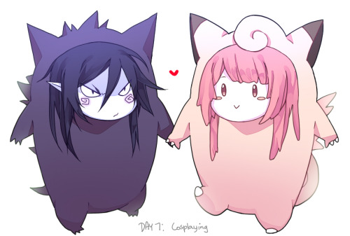curryuku:  Gengar and Clefairy