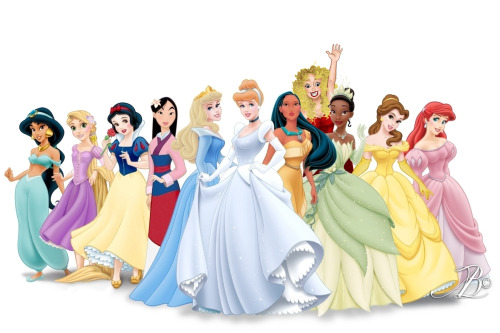 missmuggle:  Oh look princesses! Wait… and I made a full version because why not I really like that song anyway   AMAZING!