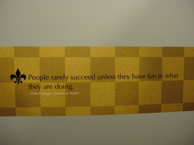 People rarely succeed unless they have fun in what they are doing.  — Dale Carnegie