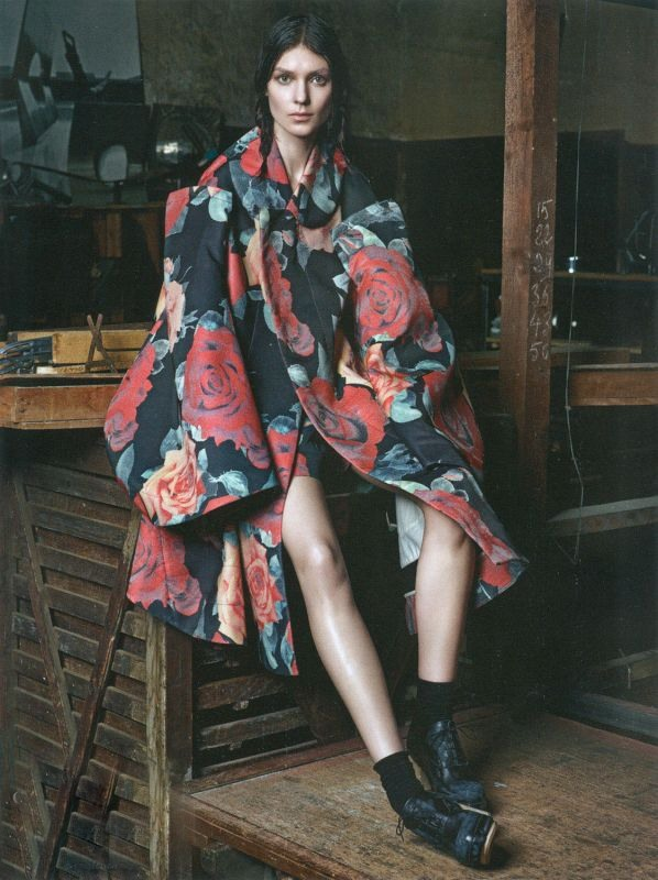 Kati Nescher by Mario Sorrenti for Vogue Paris August 2012