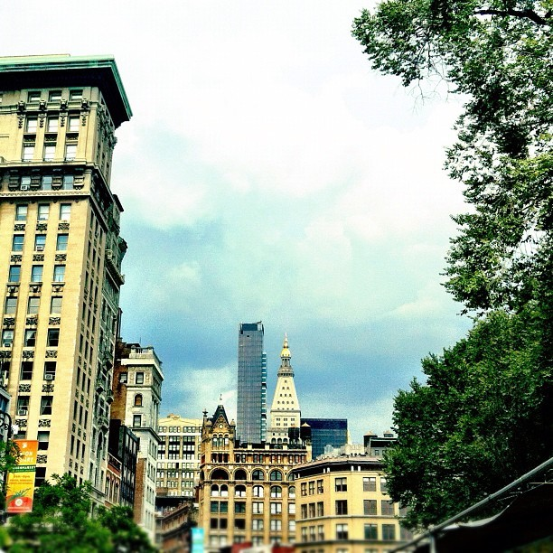 Calm before the storm #nyc#unionsquare (Taken with Instagram at Union Square Park)