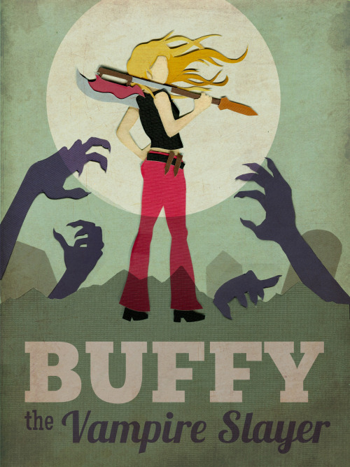 fifty50fifty:  Buffy the Vampire Slayer - Retro-style Poster