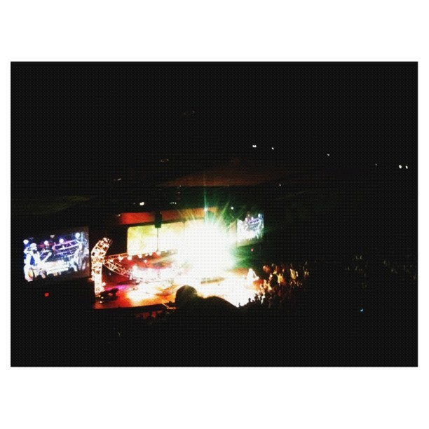 Somewhere in that blob of light is Kari Jobe (Taken with Instagram)