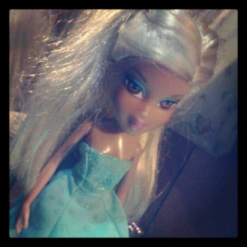 This is one of Chloe's #Bratz #dolls out of 23! Its #Chloe w/ #brown #eyes instead of #blue ! #girly #girl #toddler's #toys #instafun #cute (Taken with Instagram)