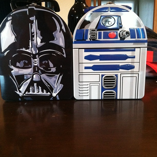 Best things I purchased today! #starwars #lunchbox's #darthvader #r2d2 (Taken with Instagram)