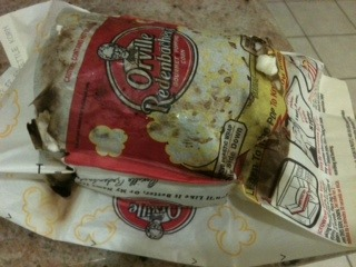 Burnt Bag of Popcorn