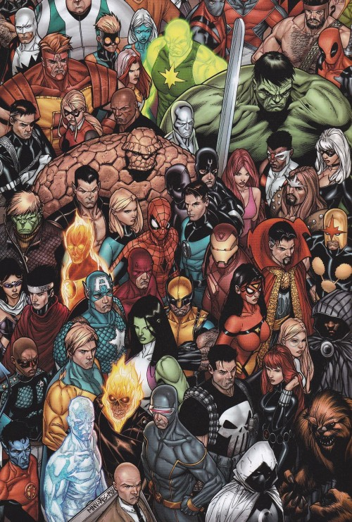 jthenr-comics-vault:  Everyone's Assembled  By Steve McNiven