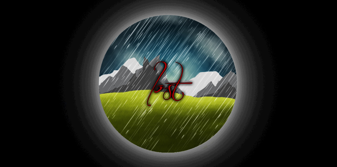 "A little descriptive image I did for the word ""Lost"""