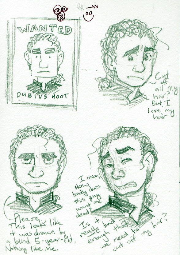 Moot has strong feelings about his hair, and is reluctant to give it up even when it compromises his safety.