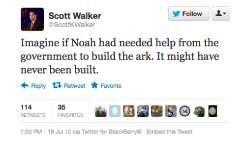 "So the government is no help… But when Noah tries to build such ark by himself the government steps in and says ""Its not up to code! You don't have a building license! You don't have a boating license! You can't own those animals! We can't make money of this! Destroy it"" So are they helping or are they hindering?"