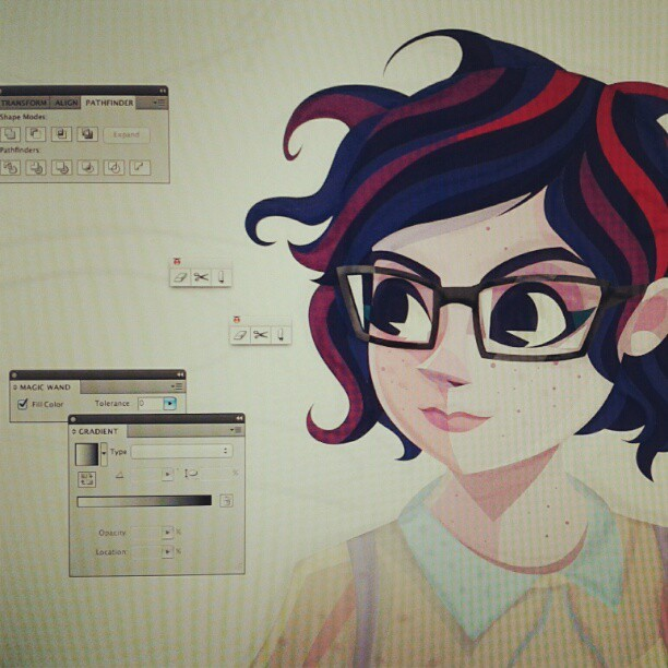 #wip fixing stuff, colorin' (Taken with Instagram)