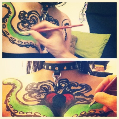 special effects body art w/ @zombiechas   http://zombiechas.tumblr.com/  instagram: zombiechas  Karis ayers instagram : hyperlink101