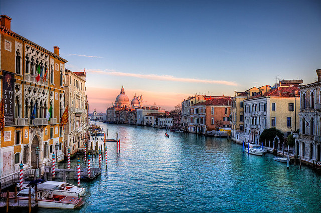 ysvoice:  | ♕ |  Venetian afterglow - Grand Canal  | by © Luigi Cavasin