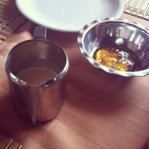 Tinned milk and marmalade at the Gye Nyame hotel (Taken with Instagram)