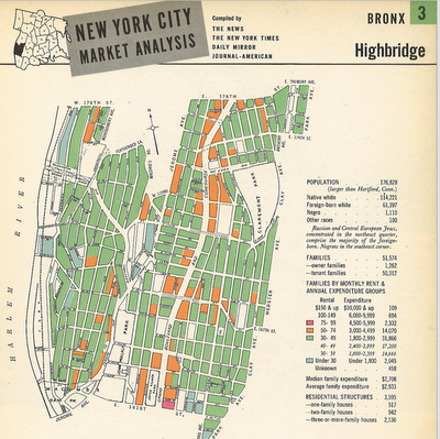 1940s New York  The 1940 U.S. Census records were recently released by the National Archives. With a little work you can find any street (that existed in 1940) and see the census forms. They tell you the names, ages, occupations, salaries and state or country of birth for all residents. I was able to locate my mother and her family in South Philly. My father grew up in the Bronx and though I couldn't find him (his parents briefly lived in New Rochelle, NY), I was able to track down other members of the family at the apartment we used to visit in my youth.