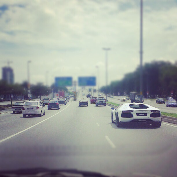 Another PORN. #Lamborghini #aventador  (Taken with Instagram at Fly Over To PJ)