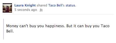 Not only do I <3 Taco Bell, but I love whomever is behind their social media.