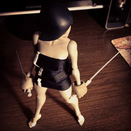Princess movin about. #queen #threea #3a #vinyl #toy #sword (Taken with Instagram)