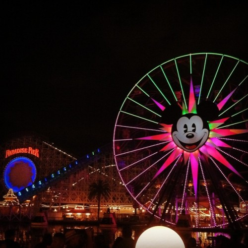 Getting ready for the #worldofcolor at #californiaadventure (Taken with Instagram)