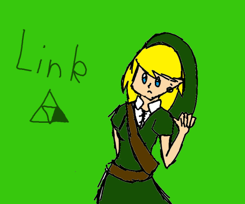 NO.  Hey, Link has the Triforce of Courage, not some girl named LinR. You can put the Hot Topic necklace down and go back to writing fanfiction, LinR.