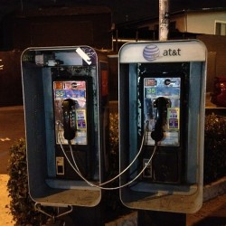 Pay phones snuggle (Taken with Instagram)