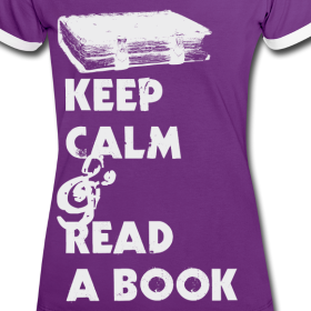 Keep Calm & Read a Book Print shirt / sale