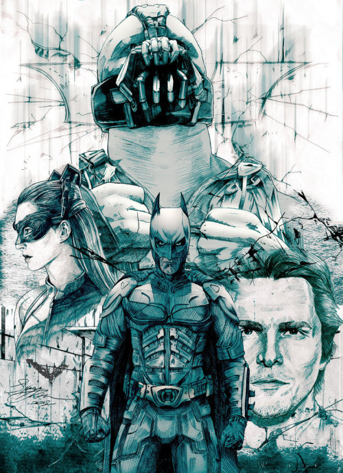timetravelandrocketpoweredapes:  The Dark Knight Rises by Simeon Aston