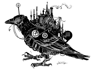 Steampunk Blackbird