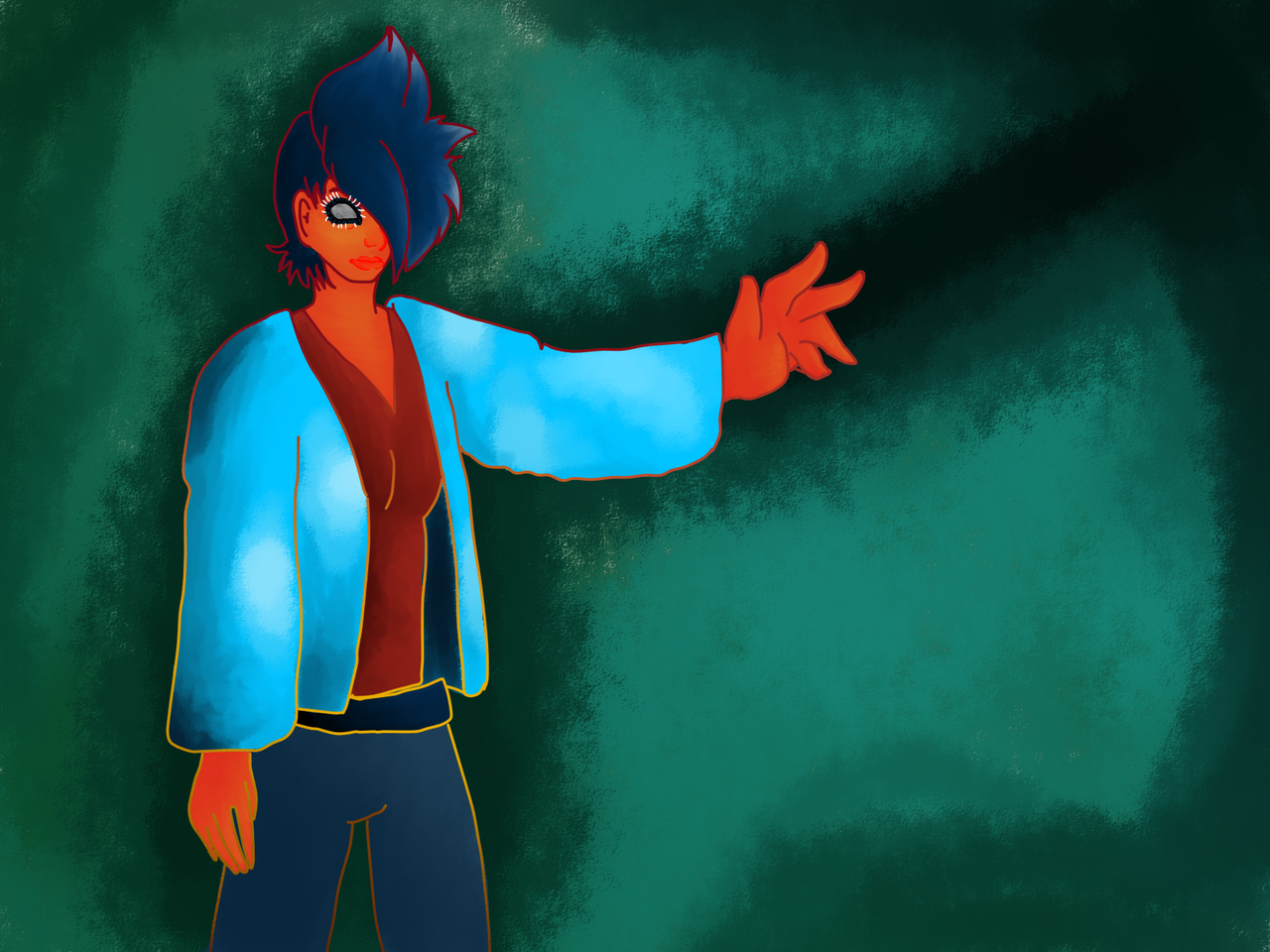I did a thing actually it was ment to be like a personified sunset so yea there ya go