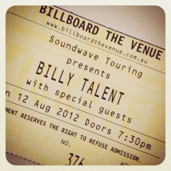 #billytalent #12august #billboardthevenue #fuckyeah #concert #hotcanadians #yaaaaay (Taken with Instagram)