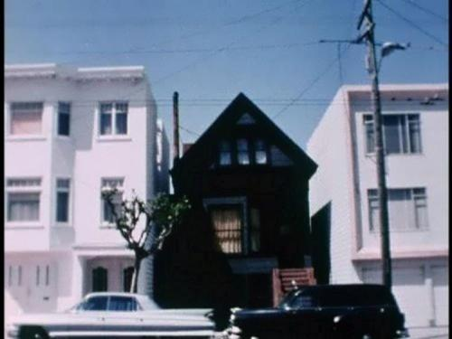 The Black House at 6114 California St. in San Francisco, California. Anton LaVey's headquarters of his Church of Satan from 1966 until his death in 1997.