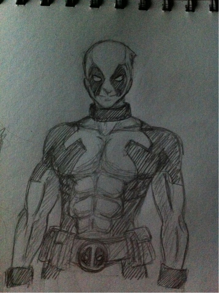 headshotur:  What am i doing up at 4am? Doodling some deadpool. I regret nothing.