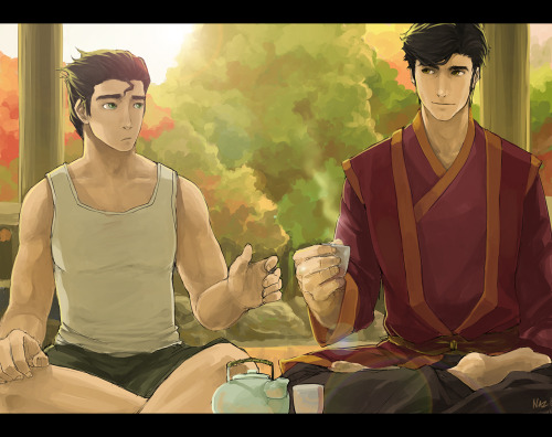 korra-naga:  LoK - Of Tea And Comfortby ~pyromaniac03  MOTHER OF GOD THIS IS GORGEOUSD FSDAJAFLKASDJFAD