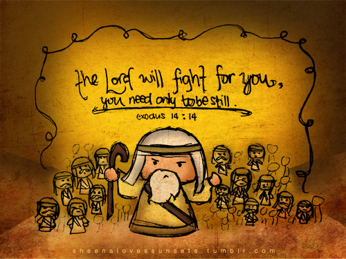"spiritualinspiration:  ""The Lord will fight for you, and you shall hold your peace and remain at rest"" (Exodus 14:14, AMP) In life, we're always going to have critics. We'll always have difficult people who try to upset us and steal our peace and joy. But, you don't have to respond to every critic. You can decide to take the high road and let God fight your battles for you. Sometimes, no matter what you say or do, there are people who aren't going to accept you. They just don't want to be at peace with you. In fact, when Jesus sent out His disciples to certain homes, He told them to always speak peace over those homes. And then He said in effect, ""If they don't receive the peace that you're offering, then it will come back to you."" That tells me that if you will do your best to be at peace with people, even if they won't take your peace, the good news is that peace will just come back to you. You'll not only get your peace, but you'll get their share as well! That's double for your trouble! When you do the right thing no matter what is happening, God sees it and rewards it. Today, stay in peace, cease from strife, and take the high road. Sow good seeds into others and watch the harvest of blessing come to your own life in return."
