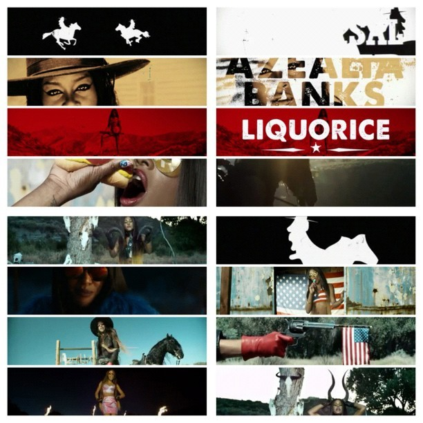 #picstitch #azealiabanks #liquorice #black #candy #sweet #yum #sexyasfuck #mygirlcrush #horse #riding #gun #banging #flag #nowplaying #twerking #stunners #hotdog #baphomet #thewoods THESE NIGGAS GO GORILLA FOR THE PIN-K FLESH …. (She makes my 🐱💦) (Taken with Instagram)