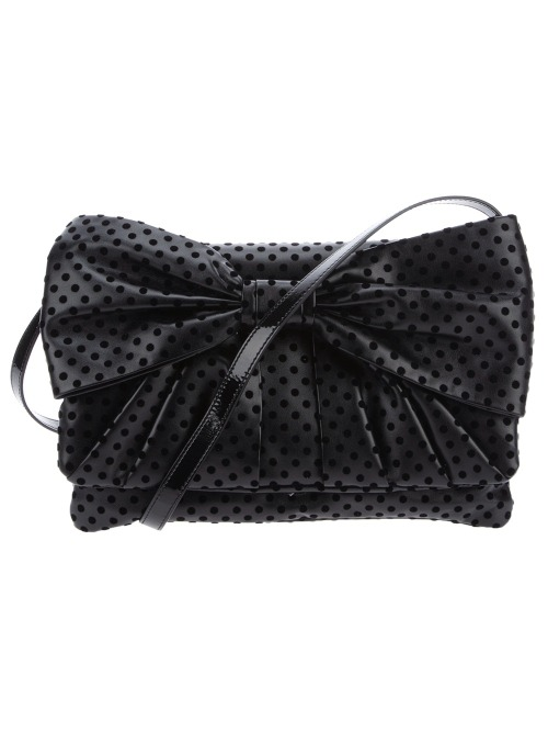 RED VALENTINO Bow detail bag featuring a shoulder strap, a top flap closure with a large bow detail, a concealed magnetic press stud fastening, and an interior zip pocket. Shipped from Russo Capri Capri, Italy