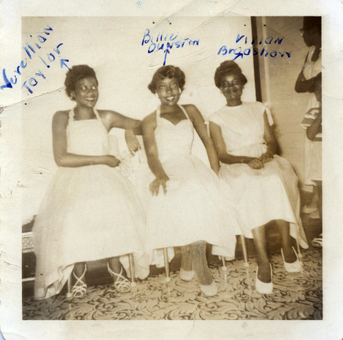Verellian Taylor, Billie Dunston and Vivian Bradshaw 1950's ©WaheedPhotoArchive, 2012