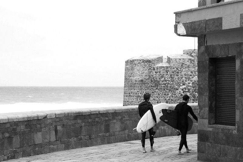 Manuel & Jordi after surfing session at San Cristobal