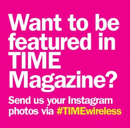 If all you can think about is Instagram, then this is for you! TIME magazine wants your Instagram photos to illustrate a story on mobile technology. The goal is to feature your photos from around the world, showing as many countries as possible. To join in on the project, use the hashtag #TIMEwireless when posting your pictures on Instagram. Photographs must be original and select winners will have their images published in a future issue of TIME magazine.
