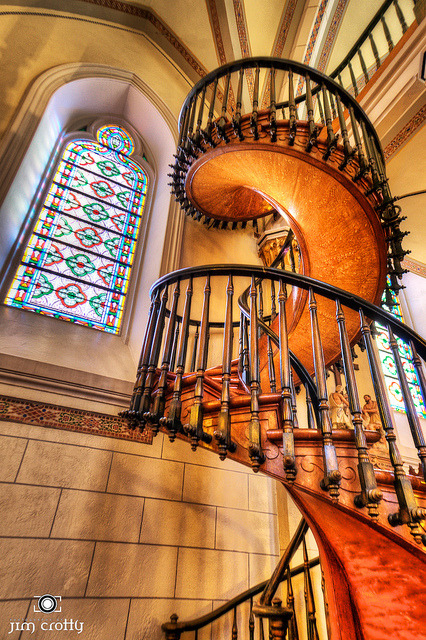 "Staircase in Loretto Chapel Santa Fe New Mexico on Flickr.""When you do things from your soul, you feel a river moving in you, a joy.""  ― Rumi"