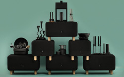 Photo from Danish Normann Copenhagen showing their black products.