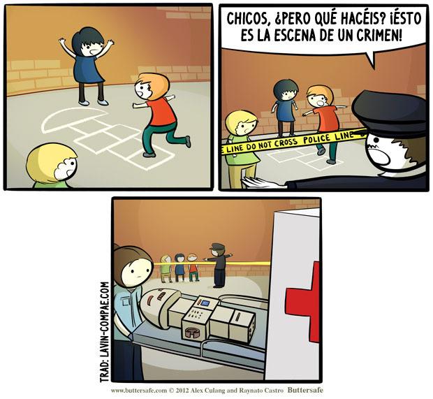 lavin-compae:  La rayuela del crimen. Original.