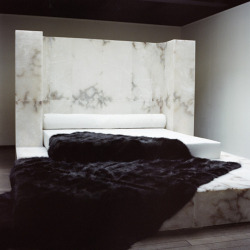 blackblackgold:  Rick Owens / Marble bed. Heaven is a place on Earth…